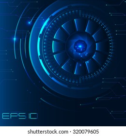 blue abstract technology background in computer graphics for websites and games, futuristic illustration