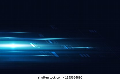 Blue abstract technology background. Digital concept. Vector illustration design.