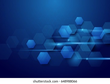 Blue abstract technology digital hi tech concept background