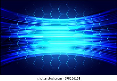 blue abstract vector hi speed internet technology background illustration.