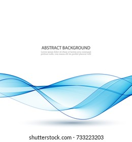 Blue abstract wave.Abstract vector background wave