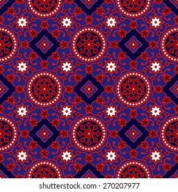 Blue Ajrak Vector Pattern