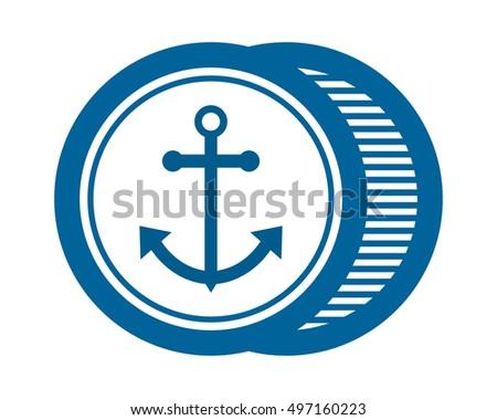 Blue Anchor Dock Marine Navy Sailor Stock Vector Royalty Free