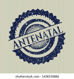 Blue Antenatal distressed rubber stamp