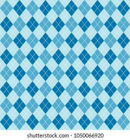 blue argyle diamond sweater seamless pattern