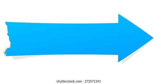 The blue arrow with tattered edge / The blank arrow illustration / The blank arrow