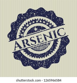 Blue Arsenic distress rubber stamp with grunge texture