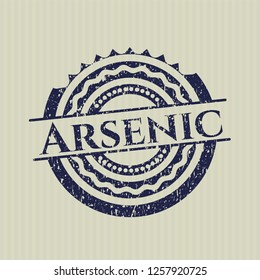 Blue Arsenic distressed grunge stamp