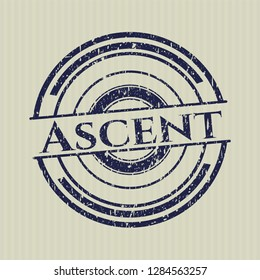 Blue Ascent rubber stamp with grunge texture