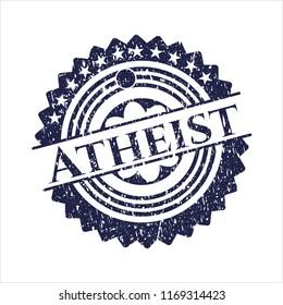 Blue Atheist rubber texture