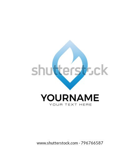 Blue B Symbol Evaporation Gas Oil Stock Vector Royalty Free