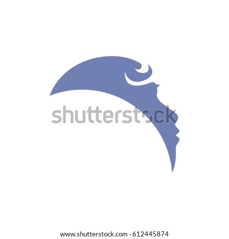 blue baby face logo template stock vector royalty free 612445874