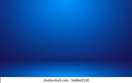 Blue Background - Blank Blue Gradient Background Room, Studio, Interior, Space, Under Water Illustration Editable Vector