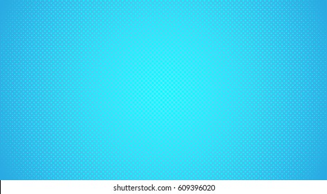 Blue background with dots. Abstract background with halftone dots design. Vector illustration.