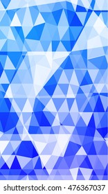 blue background with elements of a polygonal pattern. vector illustration. to design banners, presentations, brochures greeting.