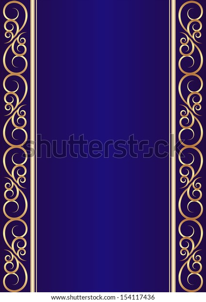 blue background with golden ornaments
