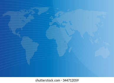 blue background with map of the world