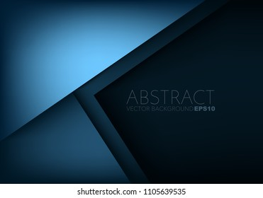 Blue background overlap layer geometric and triangle element with space for design