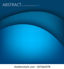Blue background paper layer overlap for text and message design