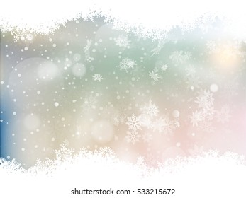 Blue background with snowflakes. EPS 10 vector file included