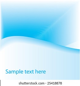 Blue background with space for text. Vector.