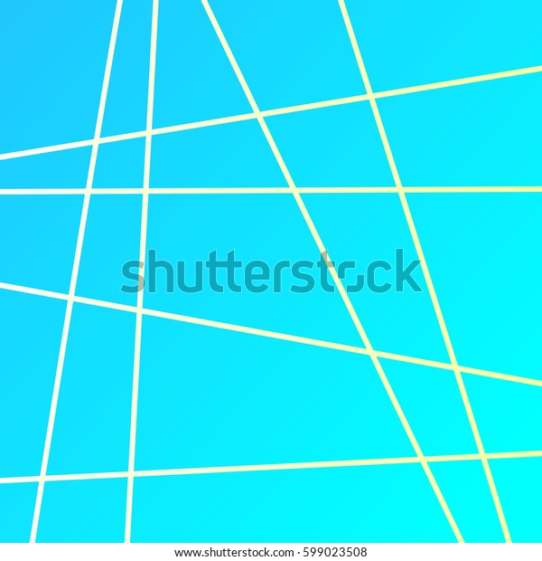 Blue background with straight lines gold Vector