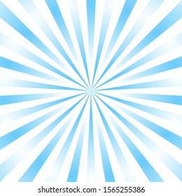 Blue background superhero. Super hero cartoon gradient texture. Sun rays burst. Radiate sun beam, burst effect retro. Sunbeam light flash boom. Template sunlight starburst poster Vector illustration