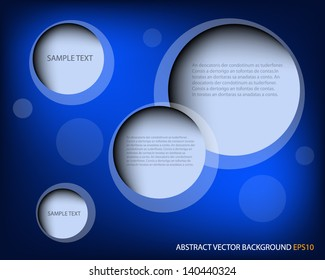 Blue background vector dimension abstract overlap text and message design for modern webdesign and artwork