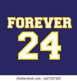 BLUE BACKGROUND VECTOR WHITE AND YELLOW FOREVER 24