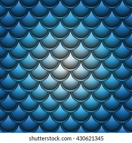 blue background with white glow and texture of fish scales
