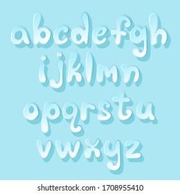 blue balloon alphabet set, sweet vector font