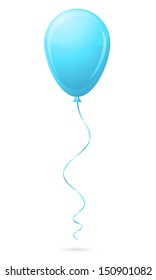 blue balloon vector illustration isolated on white background