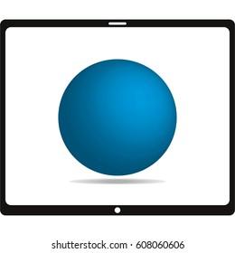 Blue ball,vector illustration