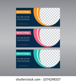 Blue banner design. Abstract poster vector. Facebook cover. Green banner. Gym banner. Pink and blue banner set