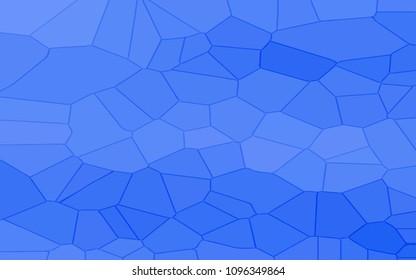 Blue banner mosaic. Abstract poster blue tile. Pixel pattern background for design. Aqua grunge texture. Azure halftone effect. Vintage background. Vector illustration.