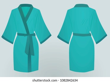 Blue bathrobe. vector illustration