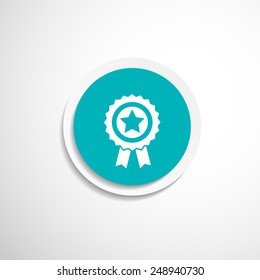 blue best of badge with ribbon icon award  champion label