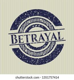 Blue Betrayal distressed rubber grunge stamp