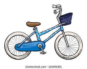 Blue bicycle, vector illustration