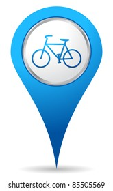 blue bike location icon