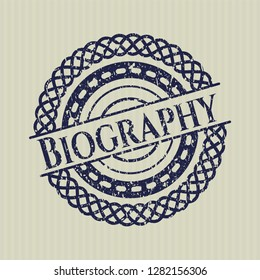 Blue Biography rubber seal