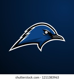 Blue Bird Mascot Logo