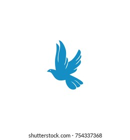 blue bird vector logo
