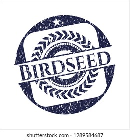 Blue Birdseed distress rubber stamp
