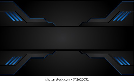 blue black abstract business background vector design stock vector