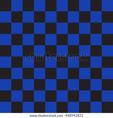 Blue And Black Chess Checkerboard Background Square Backdrop Vector Seamless Pattern Used For