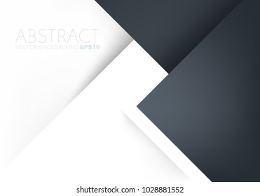 Blue black earth tone vector background triangle geometric overlap layer on white paper space for text and background design