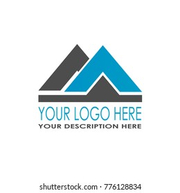 blue and black home construction architecture logo illustration isolated background