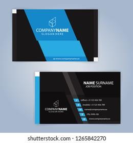 Blue and Black modern business, healthcare, Medical card template, Illustration Vector 10