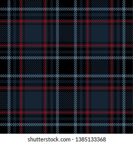 Blue, Black and  Red  Tartan  Plaid  Seamless Pattern Background. Flannel  Shirt Tartan Patterns. Trendy Tiles Vector Illustration for Wallpapers.
